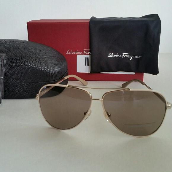 bab4062cc7d91 Ferragamo aviator sunglasses. NWT. Salvatore Ferragamo